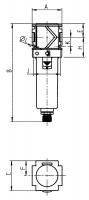 Vorschau: Druckluftfilter Typ 482 - G¼ – G1