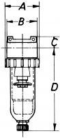 Vorschau: Druckluftfilter - G⅛ – G½