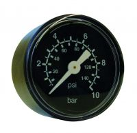 Manometer, Ø40, waagrecht, 0 - 3 bar, G1/8