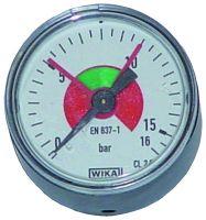 Manometer, Ø40, waagrecht, 0 - 16 bar, G1/4