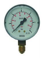 Manometer, Ø63, senkrecht, 0 - 6 bar, G1/4