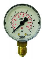 Manometer, Ø50, senkrecht, 0 - 10 bar, G1/4