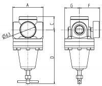 Vorschau: Hochdruckregler 60 bar - G¼ – G1