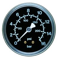 Manometer, Ø50, waagrecht, 0 - 10 bar, G1/4