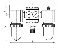 Vorschau: 3er-Wartungseinheiten - G1½ – G2