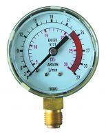 Manometer, 0 - 24 / 0 - 32 l/min, G1/4
