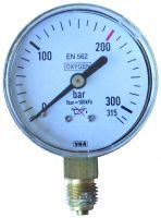 Manometer, 0 - 40 / 20 bar, G1/4