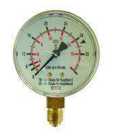 Manometer, 0 - 32 / 0 - 16 l/min, G1/4