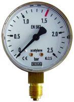 Manometer, 0 - 2,5 / 1,5 bar, G1/4