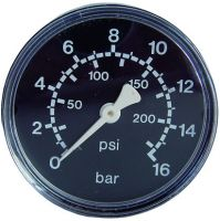 Manometer, Ø63, waagrecht, 0 - 10 bar, G1/4