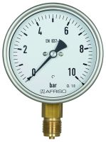 Manometer, Ø100, senkrecht, Rohrfeder-Industriemanometer, 0 - 2,5 bar, G1/2