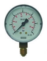Manometer, Ø63, senkrecht, 0 - 2,5 bar, G1/4