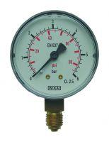 Manometer, Ø63, senkrecht, 0 - 2,5 bar, G1/4