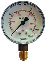 Manometer, Ø63, senkrecht, 0 - 16 bar, G1/4